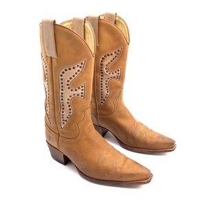 FRYE Daisy Duke Western Leather Cowgirl Boots 9.5